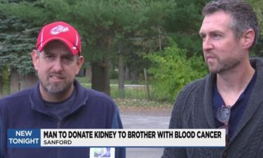 Chris German (right) will donate a kidney to his brother Eric (left) who suffers from blood cancer.