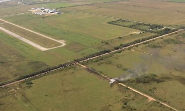 A plane crashed near the Houston Executive Airport on Tuesday morning.