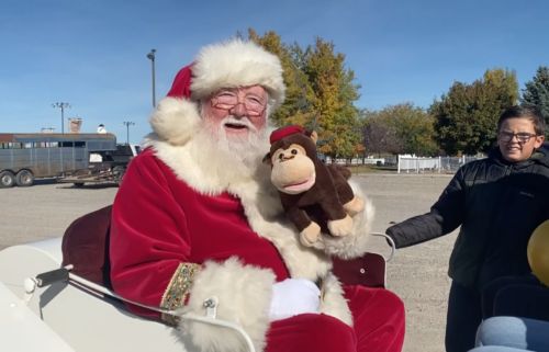 Santa Claus at Toys for Tots parade in Rigby, ID