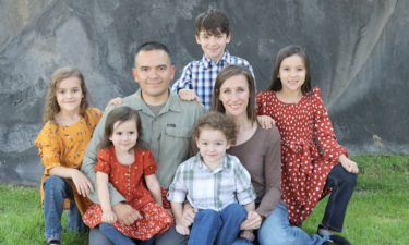 David Worley and his family