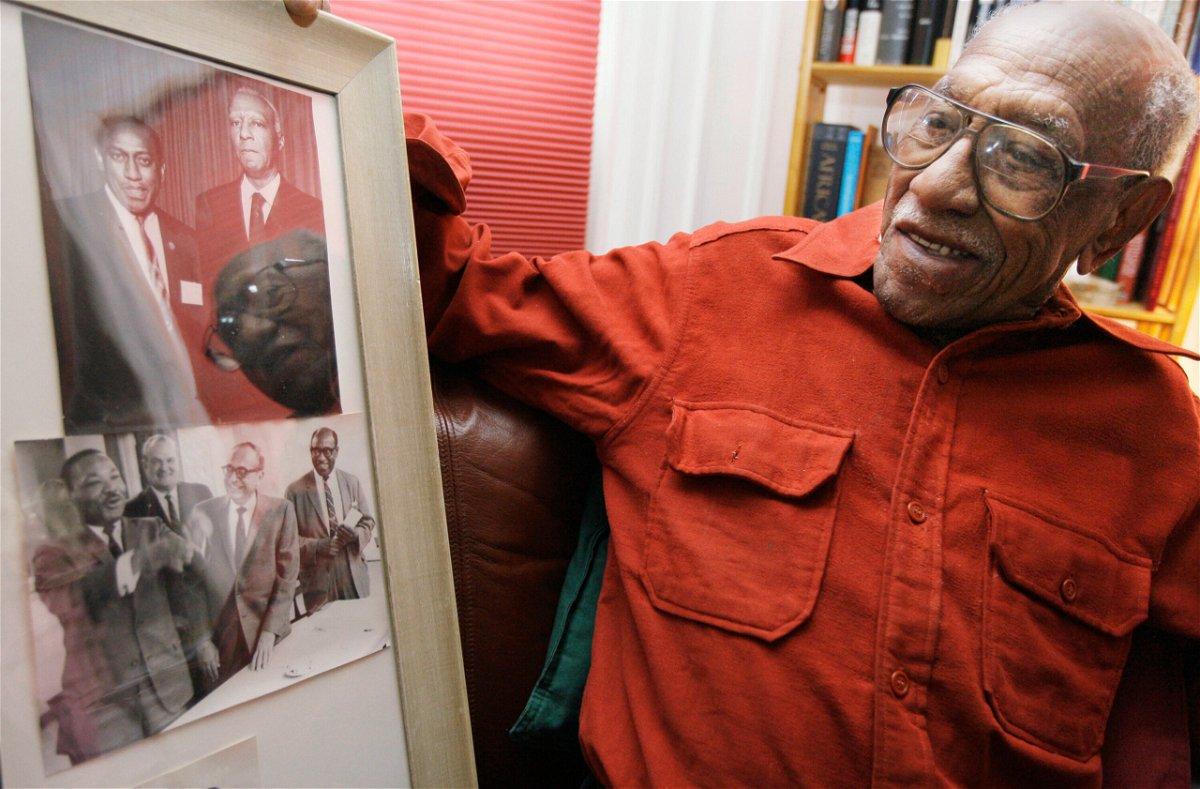 <i>M. Spencer Green/AP</i><br/>Civil rights leader Timuel Black