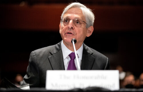 Attorney General Merrick Garland gives an opening statement during a House Judiciary Committee hearing at the US Capitol on October 21.