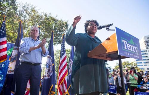 Stacey Abrams had a message for Democrats in Virginia saying