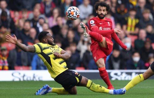 Mohamed Salah scores against Watford.