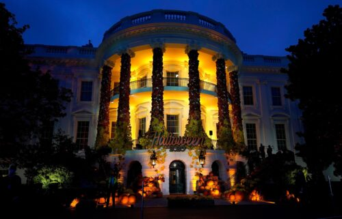 There won't be a White House Halloween celebration this year. In this October 2020 photo