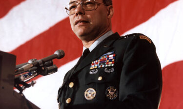 Former US Secretary of State Colin Powell died on Monday of Covid-19 complications. Powell is shown here giving a speech on March 4th 1991 in Washington