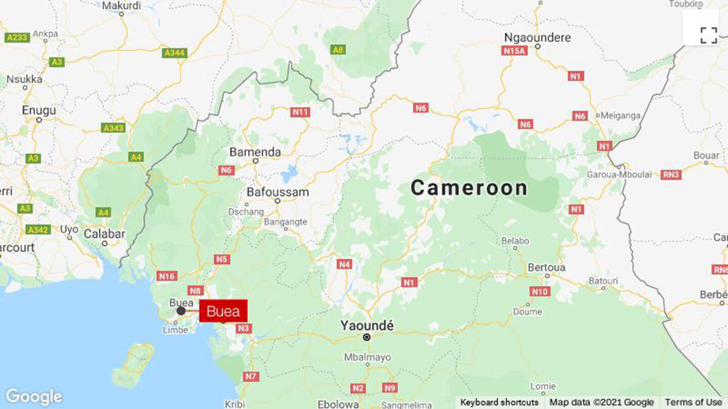 <i>Google</i><br/>A mob lynched a military police officer after he killed a five-year-old girl when he fired on a car at a checkpoint in the capital of Buea Cameroon on October 14