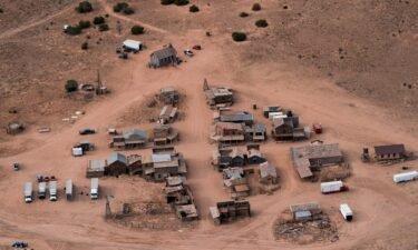This aerial photo shows the Bonanza Creek Ranch in Santa Fe